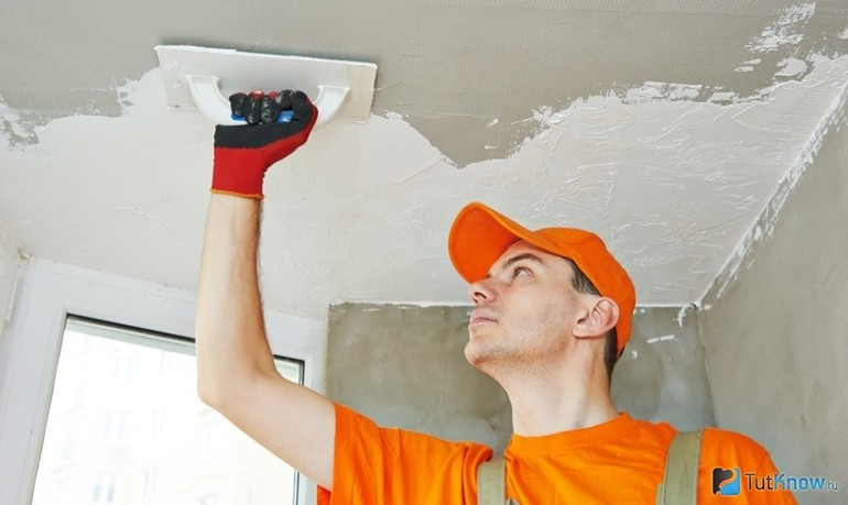 Как убрать желтизну с потолка после протечки