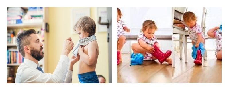 как заставить ребенка одеваться самому