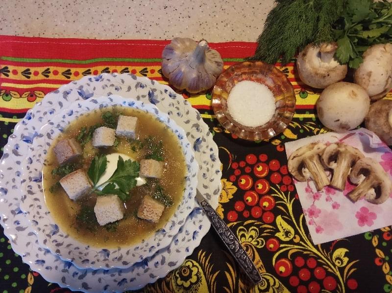 грибной суп рецепт из свежих шампиньонов