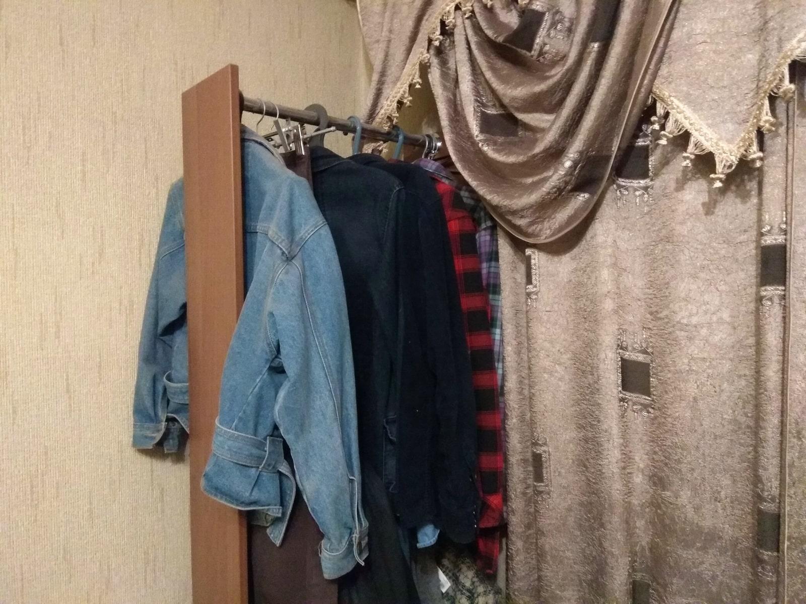 размещение одежды, которую носят сейчас