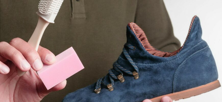 как почистить замшевую обувь от грязи