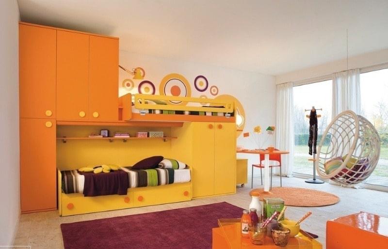 оранжевый оттенок для детской