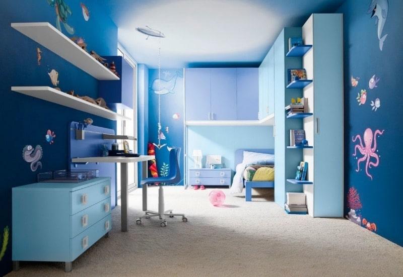 синий оттенок для детской