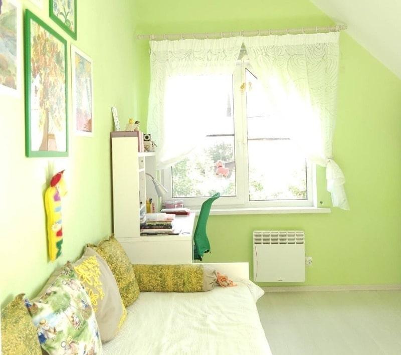 зеленый цвет для детской