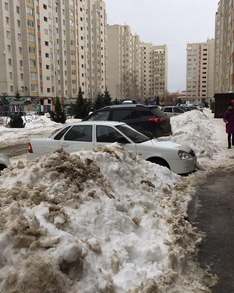 дорожная опасность - снежный занос
